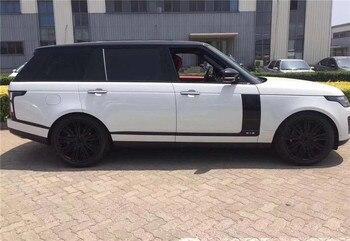 Auto zubehör Für Land Rover Range Rover Tür trim Grille Silber Chrom linie Seite Tür Air Vents Kit Trim Dekoration 2018 2019