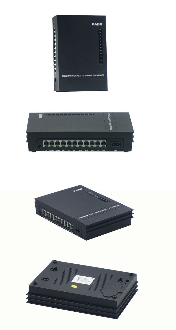 Excellent système téléphonique de programmation facile/bureau PBX/MD308/3 PSTN ligne 8 extension Mini pabx