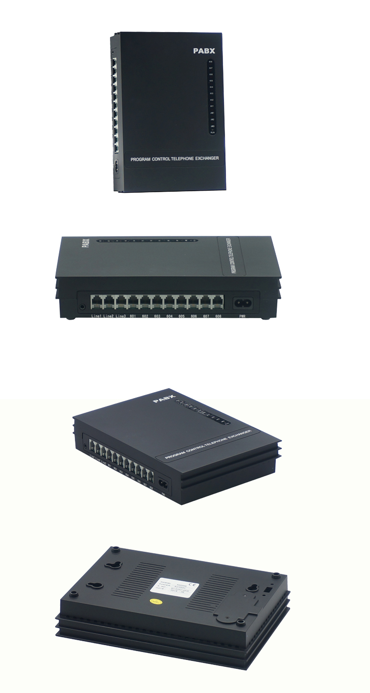 Simple Telephone System/ Mini PABX/Office PBX/ MD308/ 3 PSTN Line 8 Extension  -Operation Easily