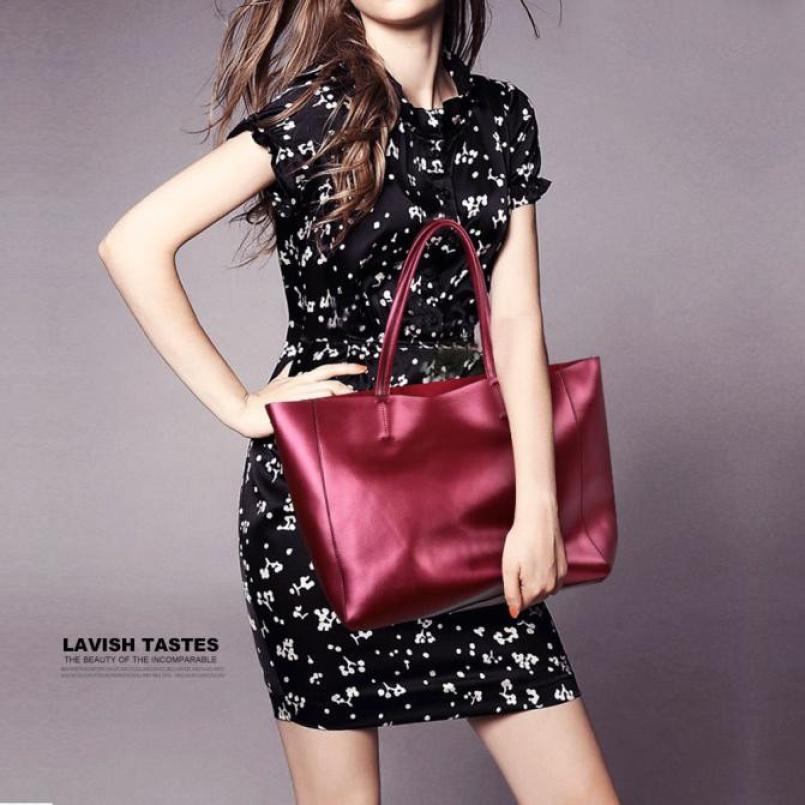 Molave Shoulder Bag new high quality fashion leather handbag large female leather large capacity shoulder bag women ap18