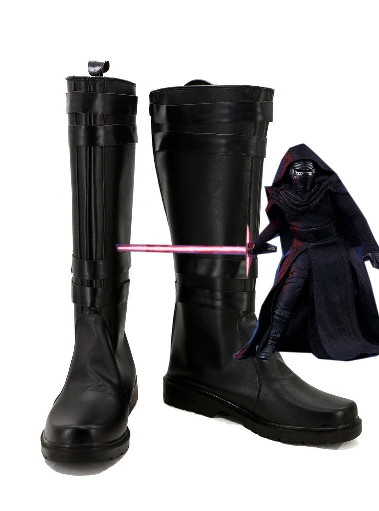 Kylo Ren Boots Cosplay Star Wars The Force Awakens Kylo Ren Cosplay Boots Jedi Black Shoes