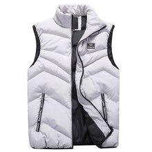FALIZA yeni erkek yelek bahar kış kolsuz ceket ve mont erkek yelek sıcak kalın rahat jile Homme erkek yelekler MJ110