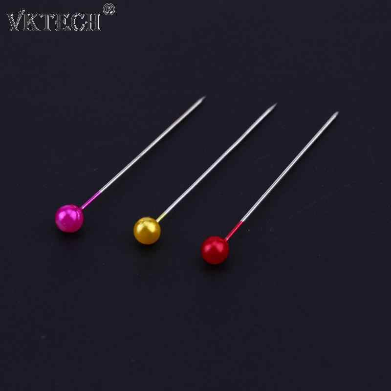 480pcs/30pcs Sewing Pins Colorful Round Pearl Straight Head Pins Localization Needle Weddings Corsage Dressmaking Accessories