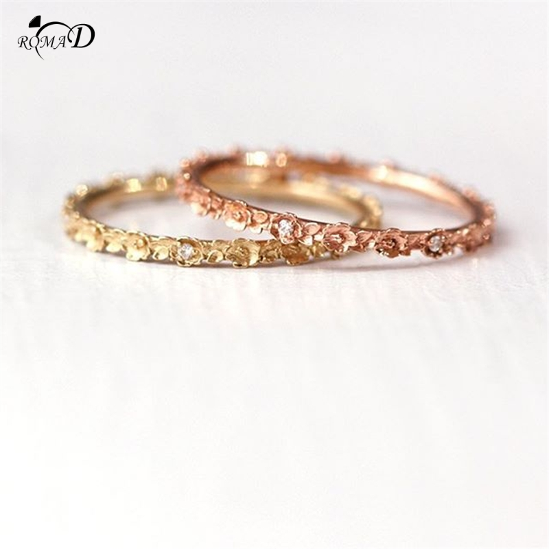 rose rings Women Finger Ring rings 2019 Sweet Crystal Water Drop Bohemia Charm Ring Sets For Women Party Jewelry Gift A30 in Rings from Jewelry Accessories