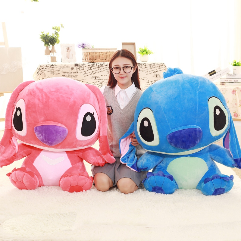 55cm/65cm Big Cute Stitch Plush Animals Doll Toys Stuffed Plush Lilo and Stitch Pillow Cushion Birthday Gifts Valentine Gifts lilo and stitch toy 626 experiment 4 hands stitch plush figure doll 22cm cute stuffed animals baby kids toys for children gifts