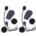 2 unids/lote V5 Casco BT Interphone 5 Jinetes 1200 M Bluetooth de La Motocicleta Intercom Headset con Función de FM.