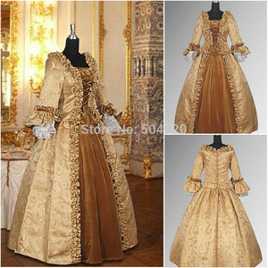 Freeshipping!R-392 Custom Made 18 Century Civil War Southern Belle Ball GownVictorian dresses/Renaissance dress