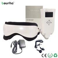 Beurha Elétrica Pressão de Ar Massager do Olho Com a Música Vibração Aquecimento do Infravermelho Distante Dispositivo de Massagem Olho Beleza Saúde