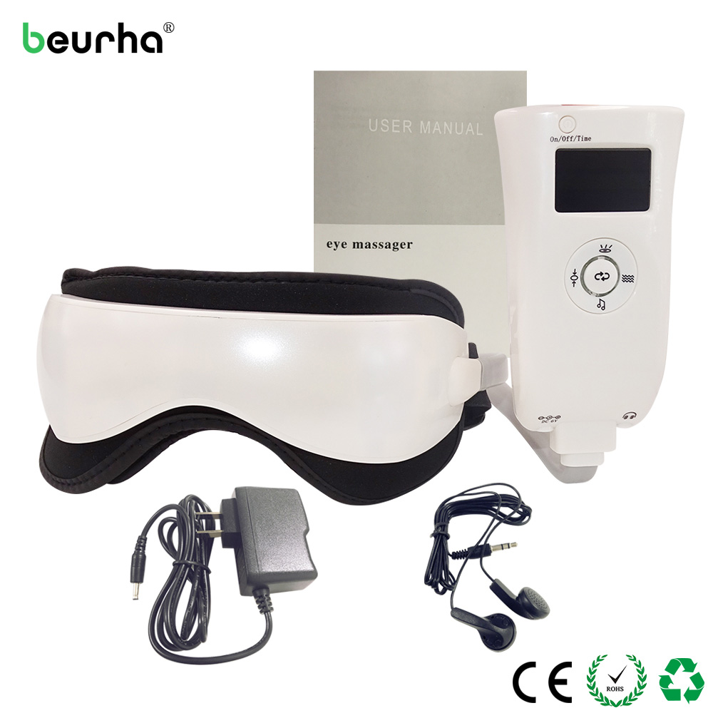 Beurha Electric Air Pressure Eye Massager With Music Vibration Far Infrared Heating Eye Ma