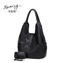 kamicy Large capacity 2017 new hot leather handbag fashionable women's single  shoulder  bag  leisure and  simple new  moon  bag