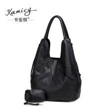 kamicy Large capacity 2018 new hot leather handbag fashionable women s single shoulder bag leisure and