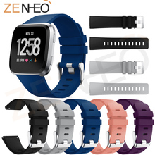 Soft Silicone Replacement Sports Watch Band For Fitbit versa Wrist Bracelet Strap Edition Wristbands rubber band Colorful Straps