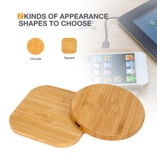 Kabym Portable real wood Qi Wireless Charger Charging Pad without logo Mat For iPhone 8 Plus X for Samsung Galaxy S6 S7 S8