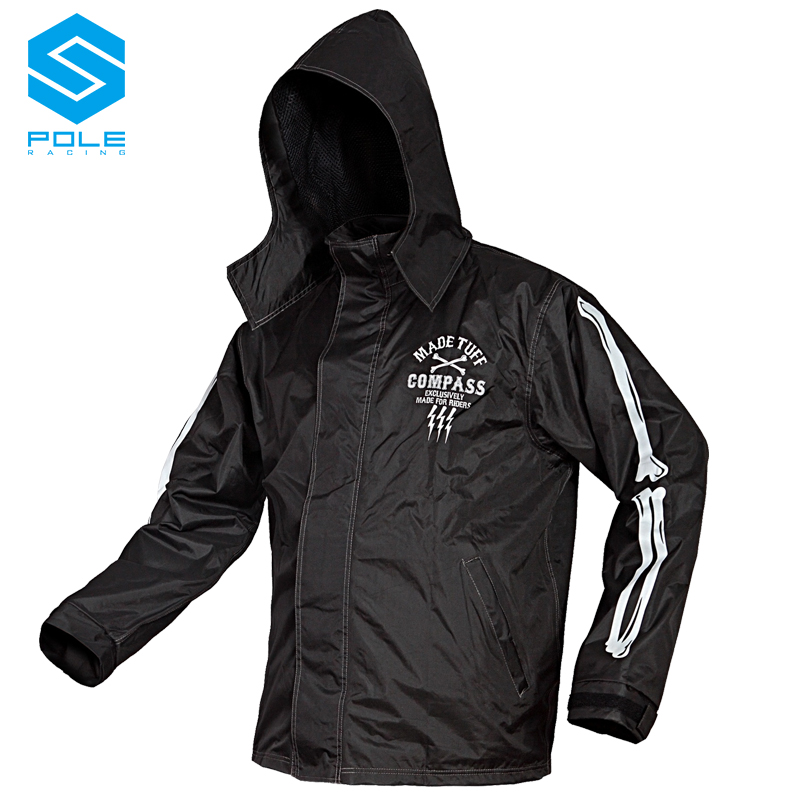 POLE motorcycle suit raincoat rain pants electric motor car outdoor adult poncho men and women Mobility personality human skelet image