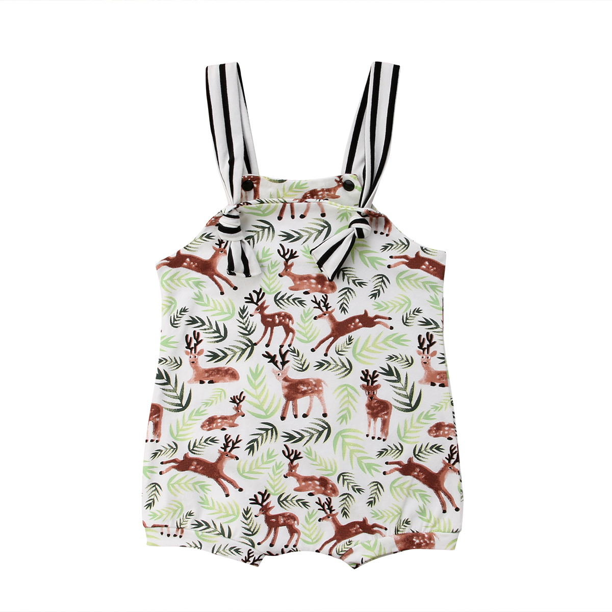 2018 Casual  Newborn Baby Boy Girls Sleeveless Deer Romper Jumpsuit Clothes Size 0-24M