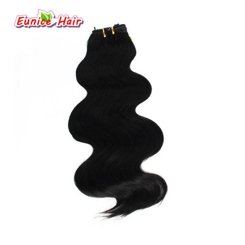 18 inch onda do corpo 3 bundles tecer cabelo sintético extensões de cabelo sintético trança tranças de crochê tecer corpo pedaço de cabelo