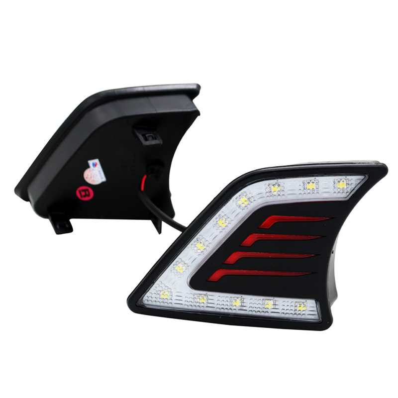 SUNKIA 2 Pcs / Set Styling Mobil LED DRL Daytime Running Light Lampu - Lampu mobil - Foto 3