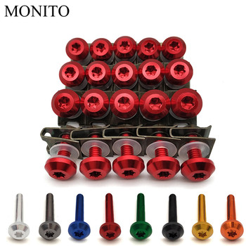 20pcs M6 Motorcycle Fairing Bolts Nuts Kit Body Fastener Clips Screws For HONDA CRF230F XR230 XR250 XR400 CRF 230F XR 250 230 image