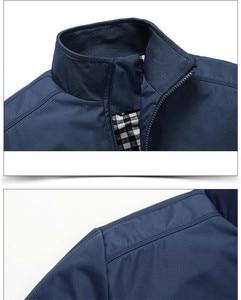 Image 5 - Sonbahar kış erkek ceket rüzgarlık erkek palto rahat düz renk ceket Slim Fit uzun kollu erkek gömlek rüzgar geçirmez ceket ceket boyutu 6XL 7XL 8XL