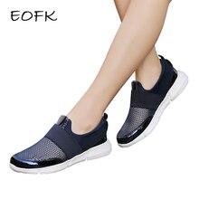 EOFK/Новые дизайнерские женские кроссовки; летние дышащие туфли на плоской подошве с сетчатым верхом; женские слипоны на плоской подошве; женская обувь; женская повседневная обувь