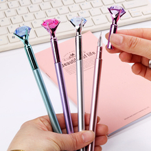 4Pcs Big carat Crystal Pen Gem Ballpoint pen ring office & school supplies stationery for pencils korean Pens