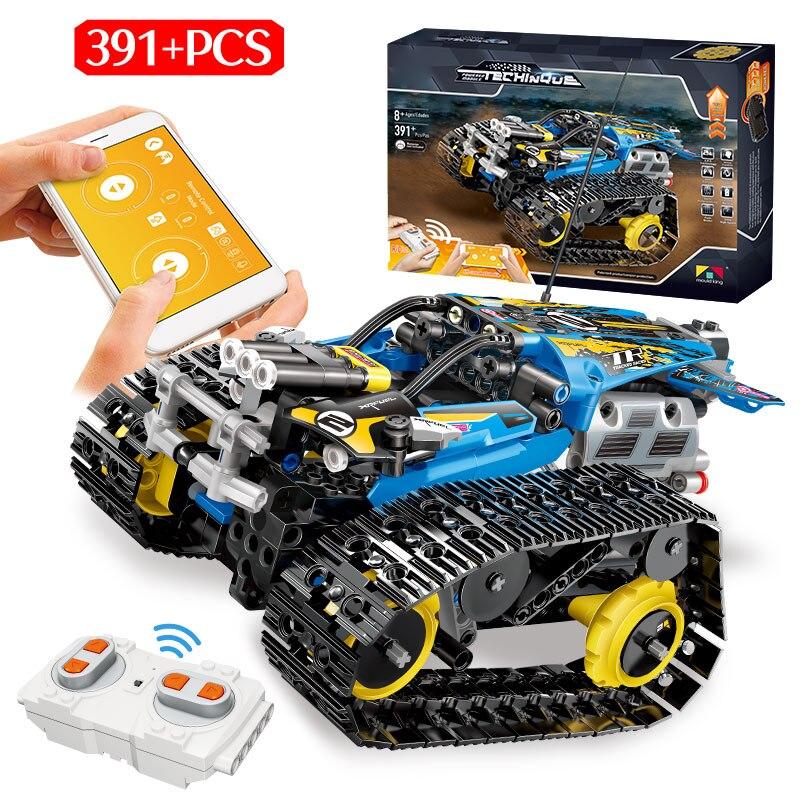 391 pièces RC créateur technique télécommande et réservoir de combat construction Blcoks Compatible Legoed ville militaire télécommande enfants jouet
