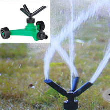 Three-fork Rotary Sprinkler With Wheels Watering Tri-outlet Rotating Sprinklers Garden Spray Household