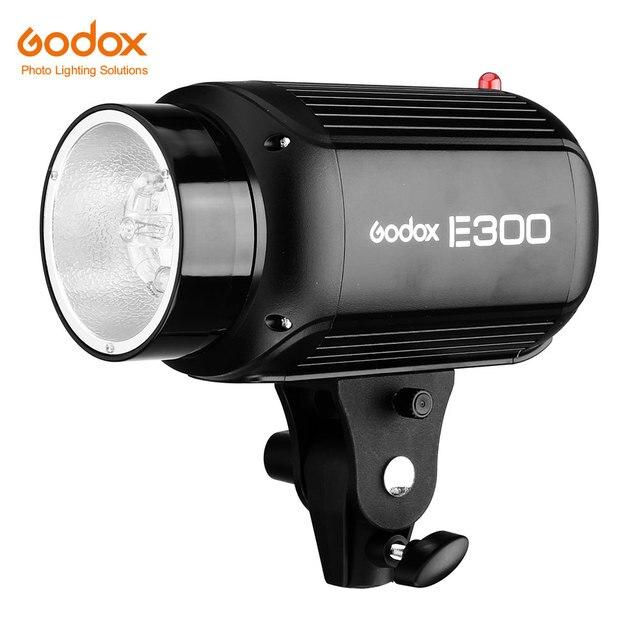 Godox E300 التصوير استوديو ستروب صور فلاش مع التحكم اللاسلكي 300 واط ميناء إضاءة الاستوديو لاطلاق النار المنتجات الصغيرة
