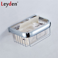 Leyden Modern Square Toilet Paper Holder Basket ORB Antique Brass Gold Chrome Wall Mounted Toilet Paper