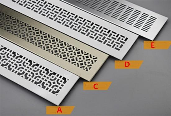 2 pcs 330 100 400 100mm vent Aluminum Air Vent Ventilator Grille For Closet Shoe Cabinet