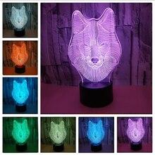 Красочный визуальный 3 d стерео сенсорный свет светодио дный светодиодный красочный маленький ночник лампа светодио дный Usb Светодиодная настольная лампа