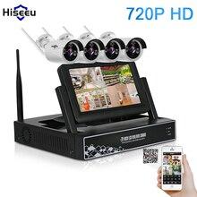 7 дюймов displayer 4CH 720 P Беспроводной CCTV Системы Беспроводной NVR IP Камера IR-CUT Пуля Главная безопасности Системы комплект видеонаблюдения hiseeu