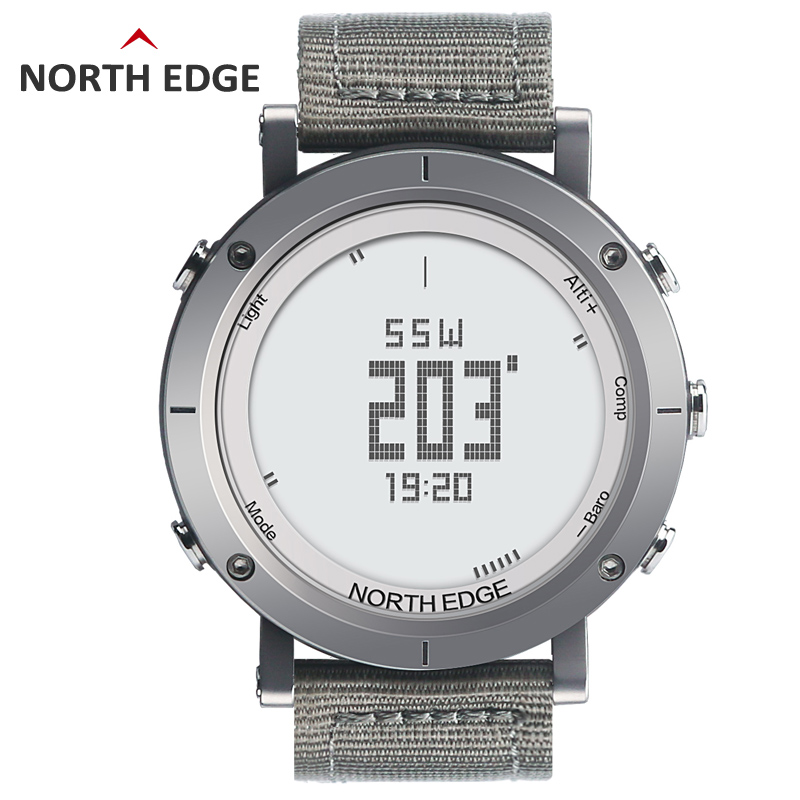 NORTHEDGE S digital watches Men sports watch clock  Altimeter Barometer Thermometer Compass Altitude hiking hours solar powered digital compass altimeter barometer thermometer