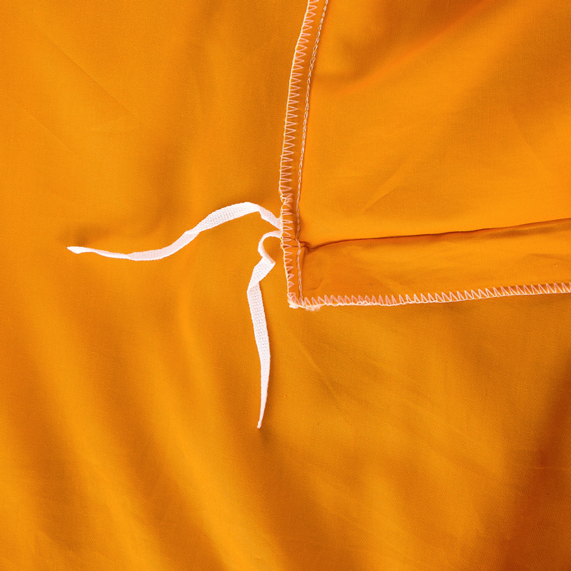 Simple housse de couette orange jaune coton deux face couleur unie ...