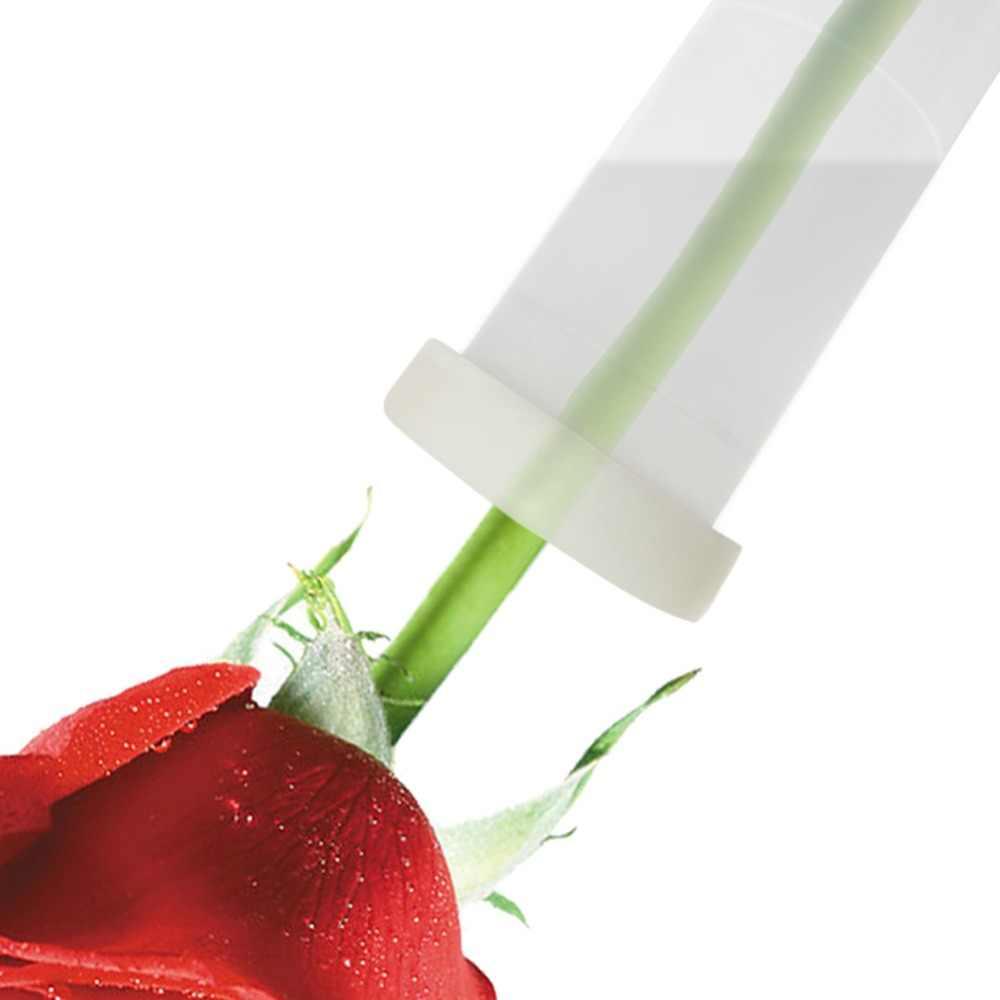 10 قطعة زهرة التغذية أنبوب البلاستيك الأزهار أنبوب مياه مع كاب تبقى طازجة جذمور أنبوب المائية الحاويات لزهرة