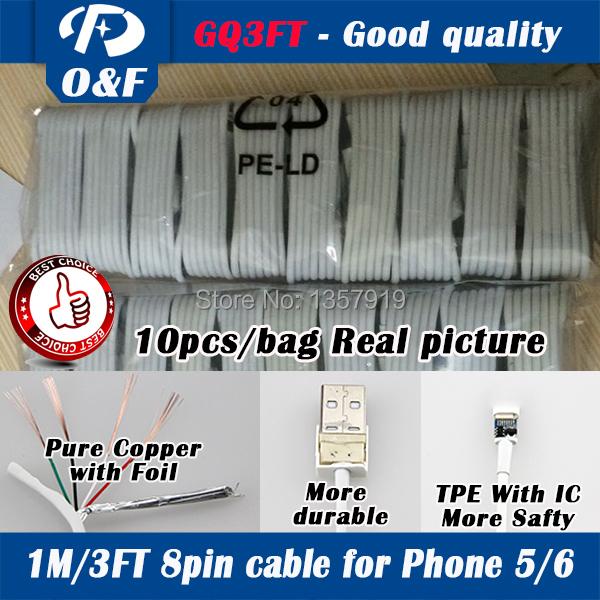 Prix pour GQ3FT 200 pcs/lot Gros Bon qualiy 8Pin USB De Charge Chargeur Données Sync Adaptateur Câble Cordons Pour iPhone7 7 plus 6 6 Plus 5 5S