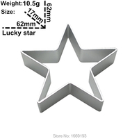 Five-pointed Star Shape Cake Decorating Fondant Cutters Tools,Lucky Star Biscuit Baking Molds,Direct Selling
