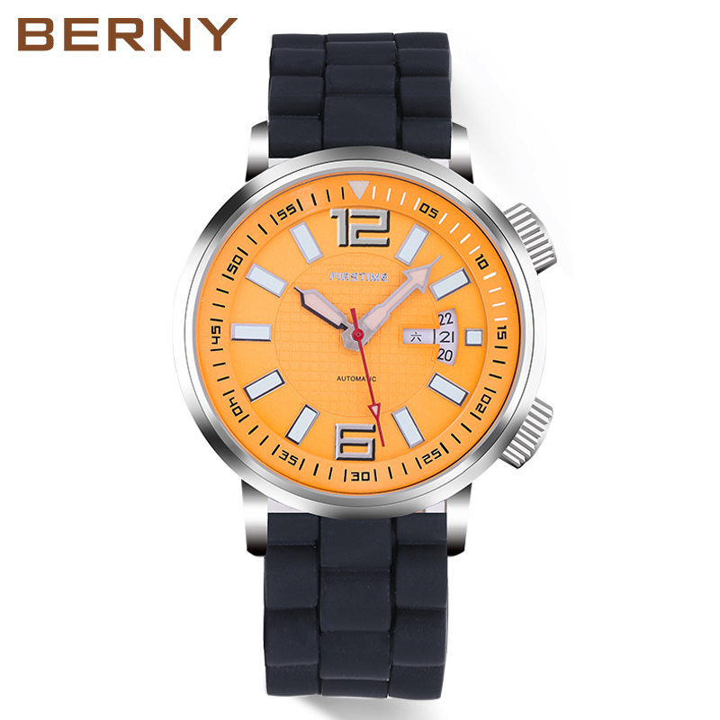 Automatic Mechanical Diver's Watches Men Watch Sport Super Luminous Watches Diver Swim Heavy Men Watches  Present Watch 7081M