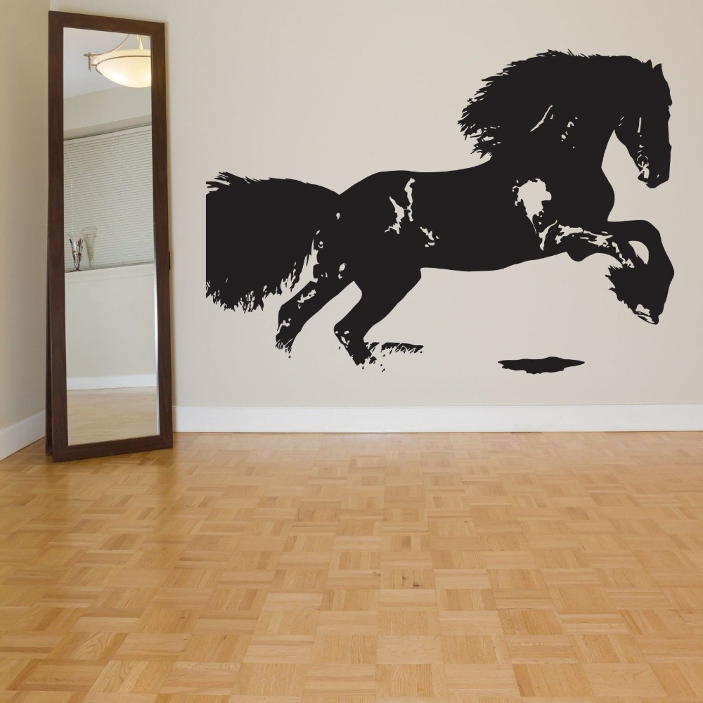 Horse sticker wall art - Horse Sticker Steed Decal Muurstickers Posters Vinyl Wall Decals Caballo Pegatina Quadro Parede Decor Mural Horse