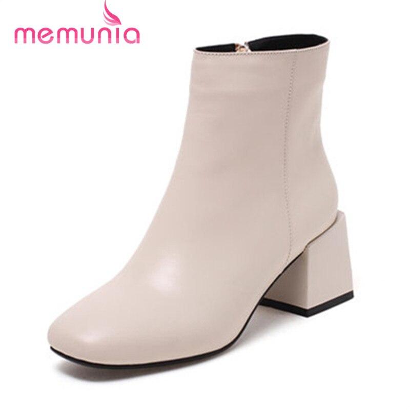 Memunia Nouvelle Fur Bottes Mode Not Cuir With Talons En Casual Femmes black Bas Talon Cheville 2018 Véritable Confortable Fur Carré Bout beige Fur Black 0O8nPkw