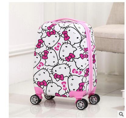 font b Kid s b font Travel Trolley Case Cartoon Rolling Bag For font b