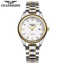 Luxury Diamond Watch Women Tops Brand GUANQIN Full Steel Waterproof Watches Sapphire Designer Watches Quartz Lady Dress Watches