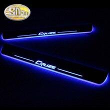 SNCN 4 шт. акриловый движущийся светодиодный приветственный автомобиль педаль накладка педаль порога дорожка светильник для Chevrolet Cruze