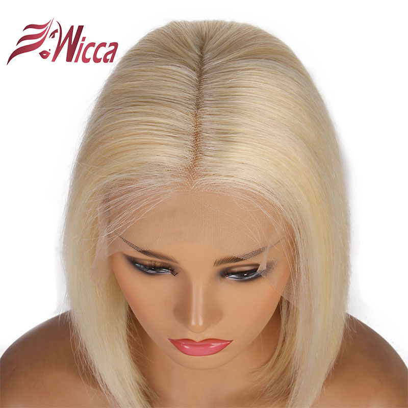 HTB1h7IZakH0gK0jSZPiq6yvapXaV 13x6 613 Blonde Short Bob Lace Front Human Hair Wigs For Black Women Brazilian Straight Hair 1B 613 Ombre colored Lace Wig