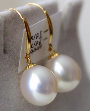 Free shipping  stunninga pair of 12-13mm natural baroque white pearl earring 14Free shipping  stunninga pair of 12-13mm natural baroque white pearl earring 14