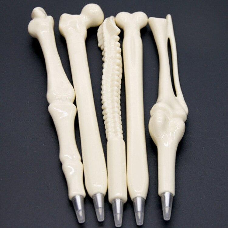 2020 School Supplies 5 Pcs Novelty Pen Writing Supplies Bone Shape Ballpoint Wholesale New Gift School Office Stationery Refill