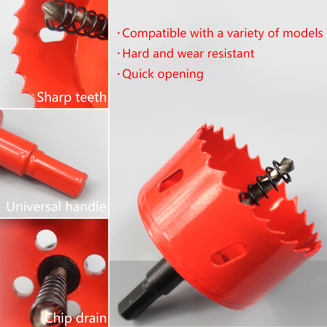 M42 Material 16mm-50mm Drill Bit Hole Saw Twist Drill Bits Cutter Power Tool Drilling Kit Carpentry Tools For Wood Steel Iron
