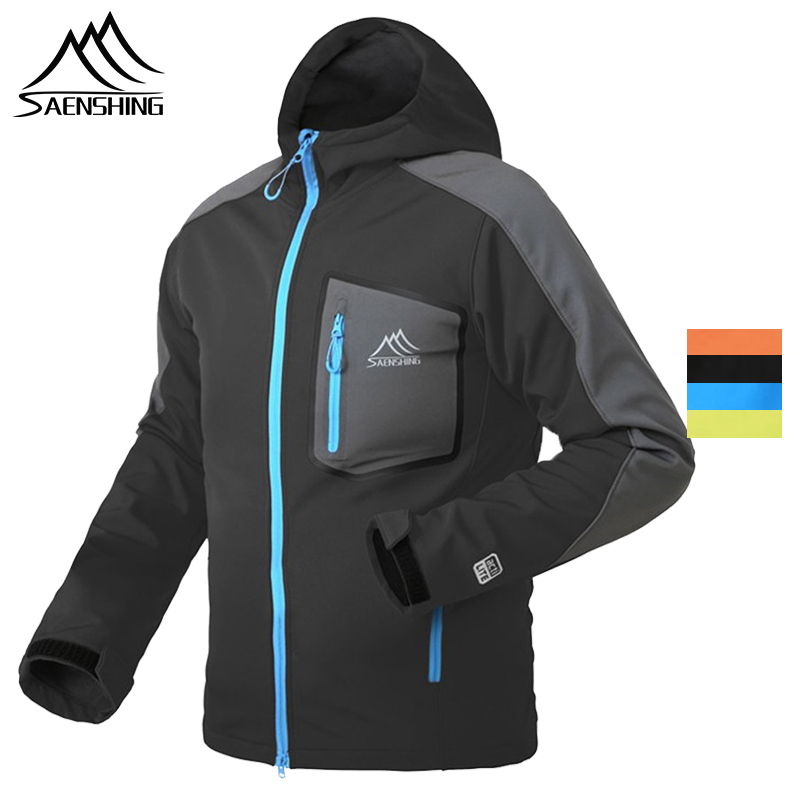 SAENSHING Waterproof softshell Jacket Men Hiking Fleece Rain Coat Fishing Windbreaker Outdoor Camping Trekking Soft shell Jacket