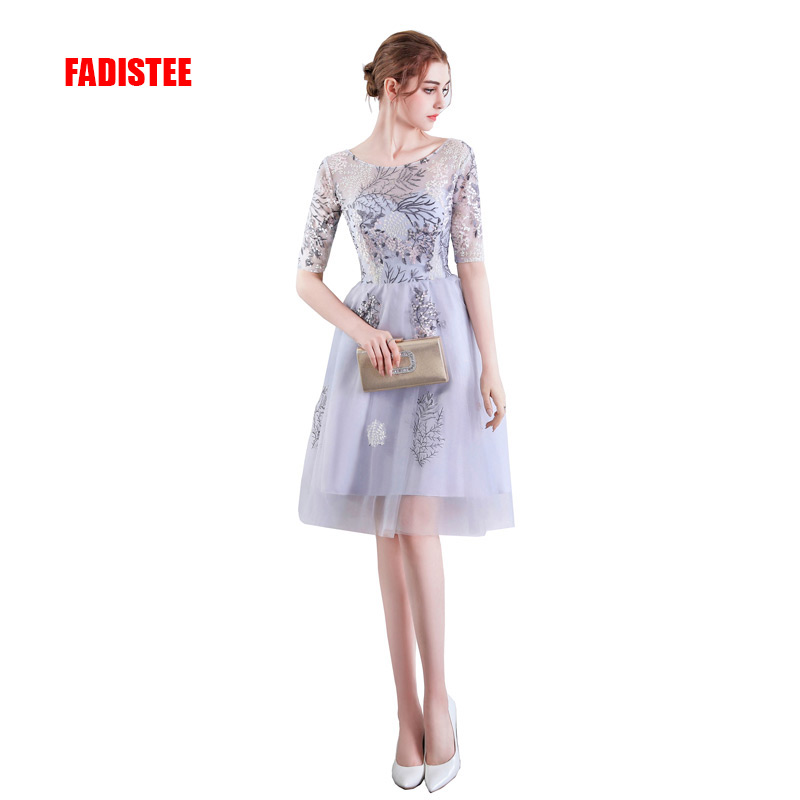 FADISTEE New Arrive Cocktail Dresses Lace Short Dresses Appliques Elegant Party Dress Vestido De Noiva