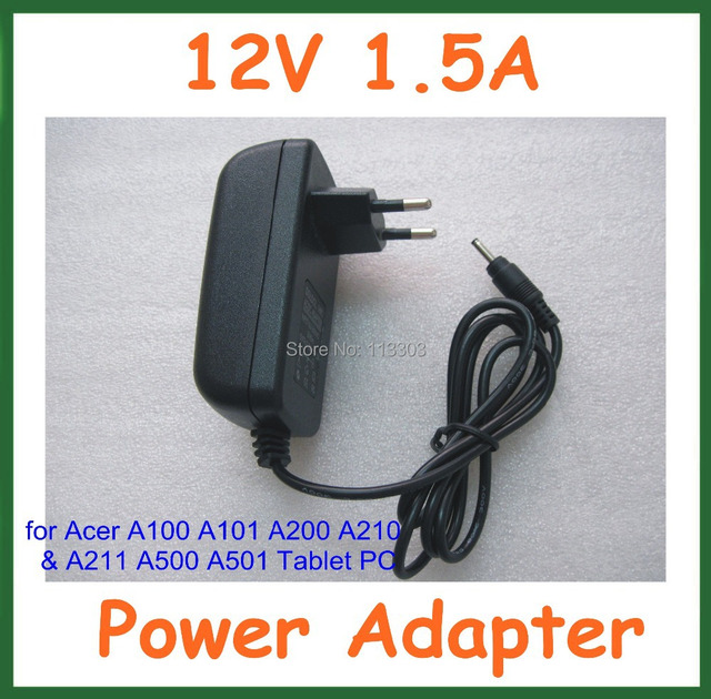 100pcs Tablet Battery Charger 12V 1.5A for Acer Iconia W3 W3-810 A100 A101 A200 A210 A211 A500 A501 for Lenovo MIIX10 MIIX2 10